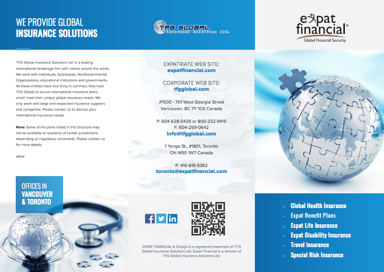 Expatriate Insurance Brochures Expat Insurance Specialists