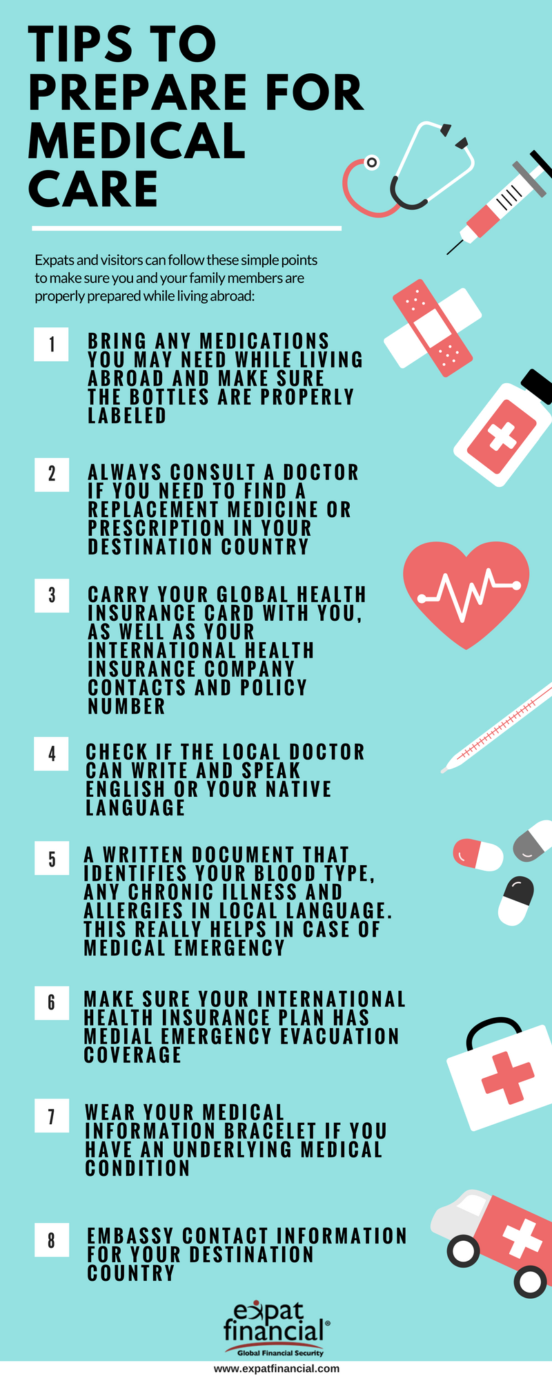 tips to prepare medical care