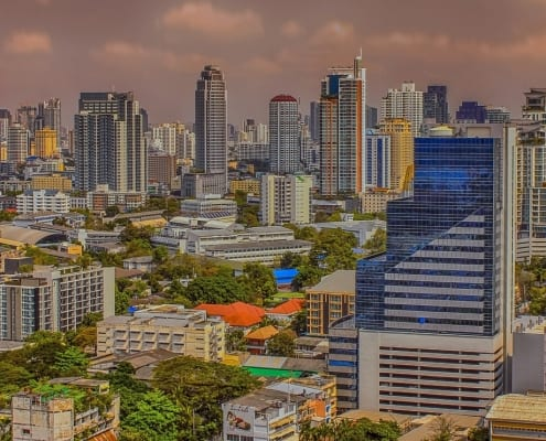 Bangkok city is one of the top six south asian destinations for global nomads