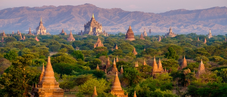 Pagodas in Myanmar, healthcare system and insurance options for expats